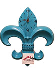 Fleur de Lis Wall Clock - Sea Shell