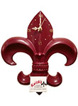 Fleur de Lis Wall Clock - Sparkling Red Wine