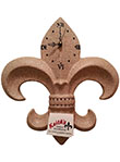 Fleur de Lis Wall Clock - Travertine