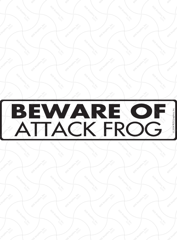 Beware of Attack Frog Sign and Sticker - 12