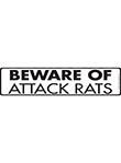 Beware of Attack Rats Sign and Sticker - 12