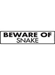 Beware of Snake Sign and Sticker - 12