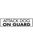 Attack Dog on Guard Sign and Sticker - 12