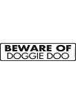 Beware of Doggie Doo - Potty Area Sign & Sticker - 12