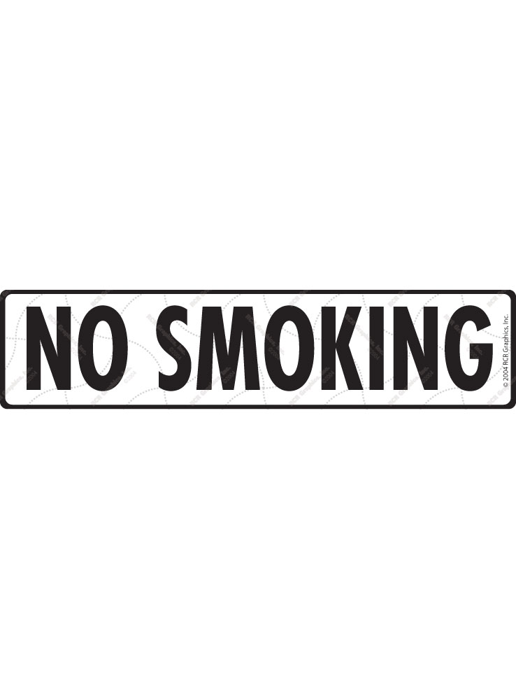 No Smoking Sign or Sticker - 12