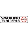 Smoking Prohibited Sign or Sticker - 12