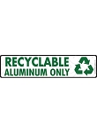 Recyclable Aluminum Signs or Sticker - 12