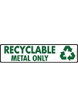 Recyclable Metal Signs or Sticker - 12