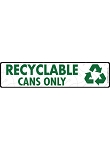 Recyclable Cans Signs or Sticker - 12