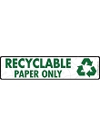 Recyclable Paper Signs or Sticker - 12
