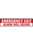 Emergency Exit Sign or Sticker - 12