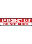 Emergency Exit - Block Sign or Sticker - 12