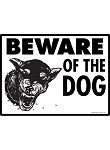 Beware of Doberman Pinscher Dog Sign - 12