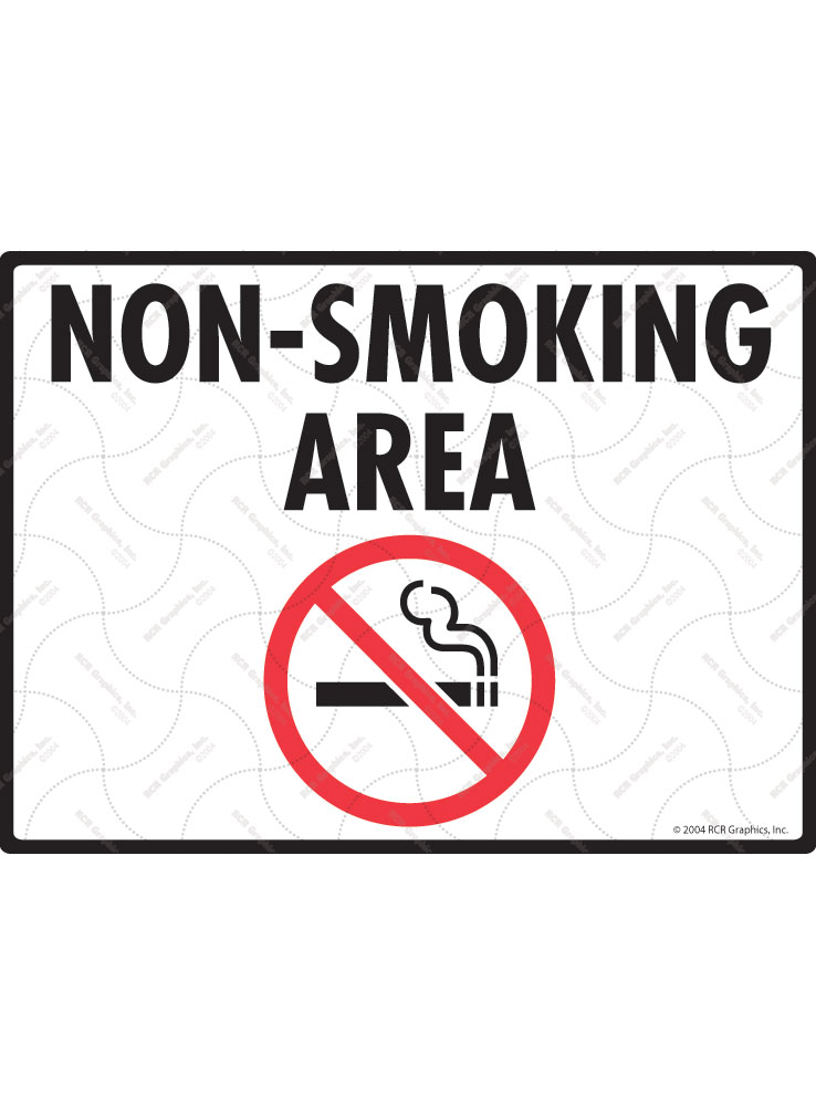 Non-Smoking Area Sign - 12