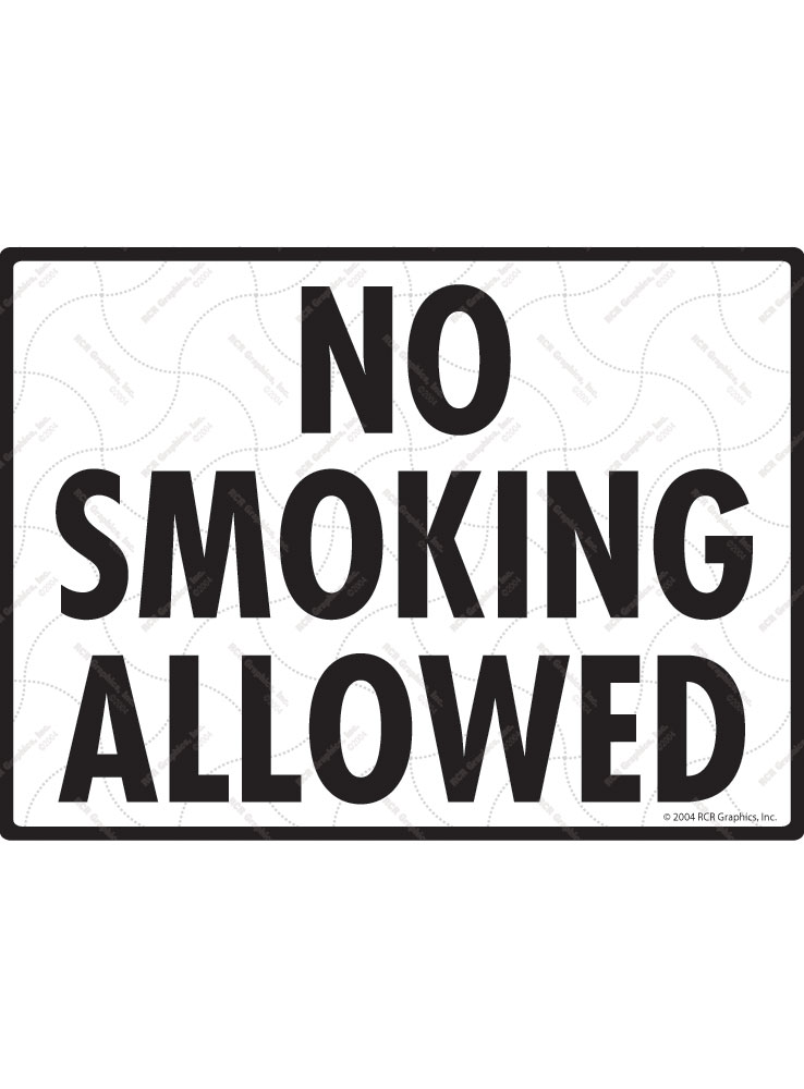 No Smoking Allowed Sign - 12