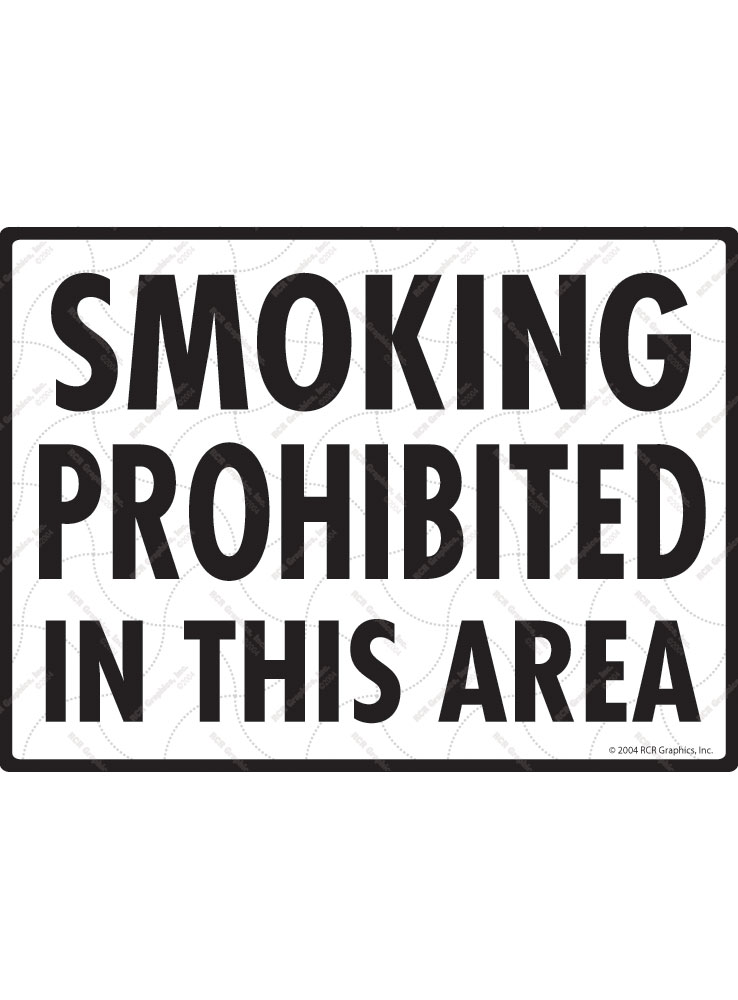Smoking Prohibited in This Area Sign - 12