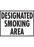 Designated Smoking Area Sign - 12