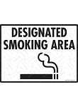 Designated Smoking Area with Symbol Sign - 12
