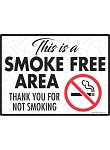 This is a Smoke Free Area Sign - 12