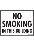 No Smoking in This Building Sign - 12
