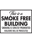 This is a Smoke Free Building Sign - 12