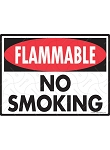 Flammable No Smoking Sign - 12