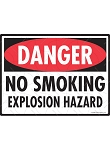 No Smoking Explosion Hazard Sign - 12