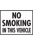 No Smoking in This Vehicle Sign and Sticker - 12