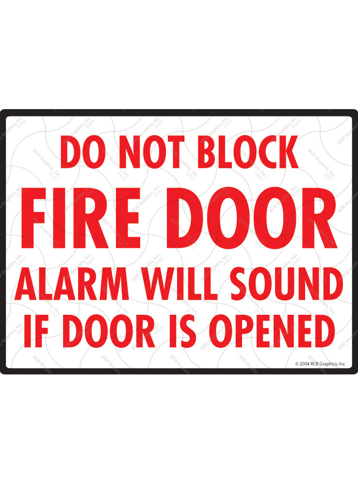 Do Not Block Fire Door Sign - 12