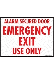 Alarm Secured Door Sign - 12