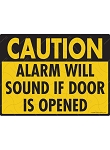 Caution! Alarm Will Sound Sign - 12