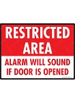 Restricted Area Sign - 12