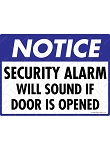 Notice! Security Alarm Sign - 12