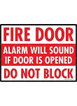 Fire Door - Do Not Block Sign - 12