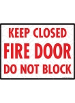 Keep Closed - Fire Door Sign - 12