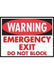 Warning! Emergency Exit Sign - 12