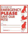 Pet Emergency Signs