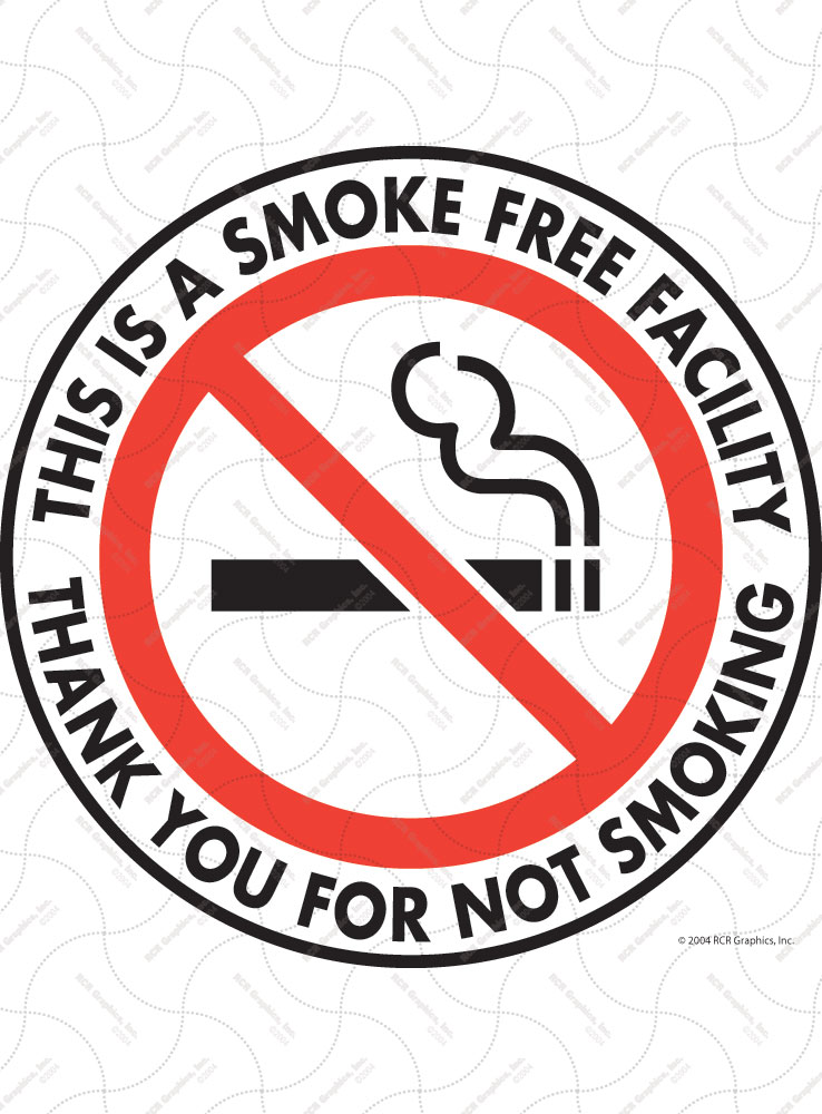 Smoke Free Facility Vinyl Sticker - 4