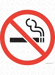 No Smoking Vinyl Sticker - 4