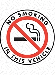 No Smoking in This Vehicle Vinyl Sticker - 4