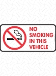 No Smoking in This Vehicle Sign and Sticker - 6