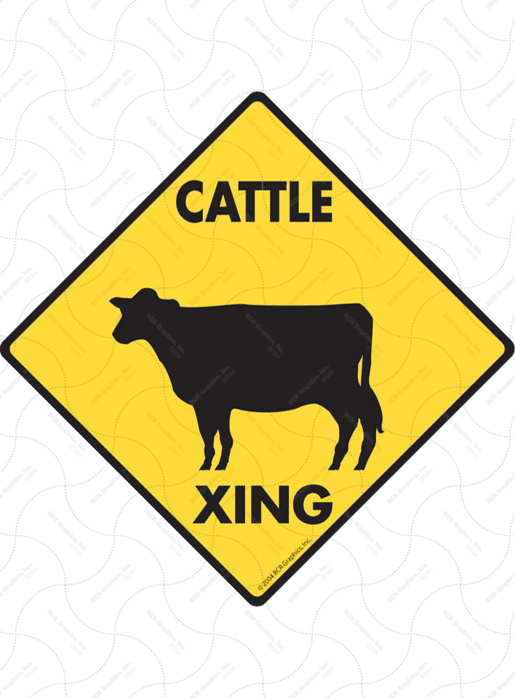 Cattle Xing Signs
