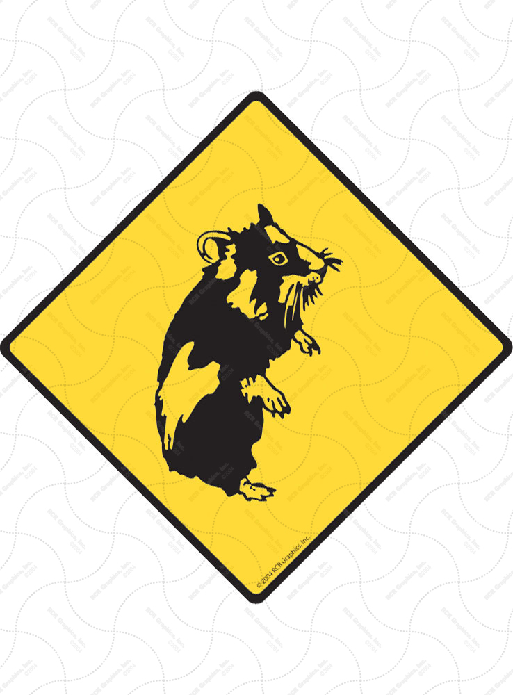 Warning! Hamster Animal Signs and Sticker