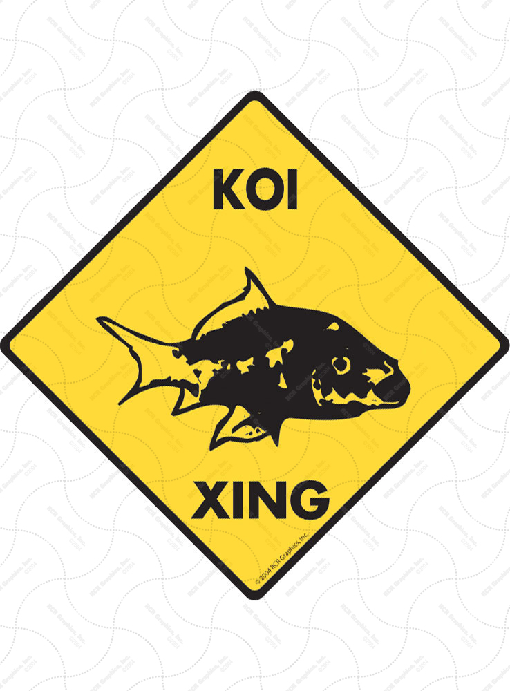 Koi Xing (Crossing) Animal Signs and Sticker