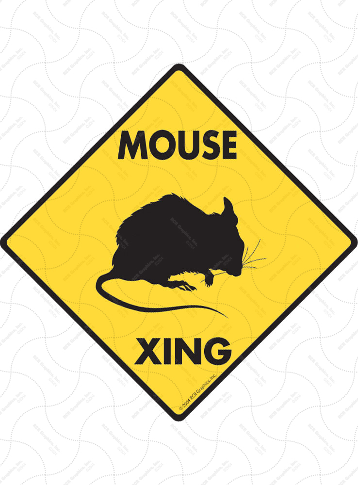 Mouse Xing (Crossing) Animal Signs and Sticker