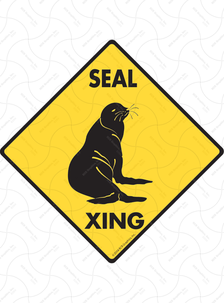 Seal Xing (Crossing) Animal Signs and Sticker