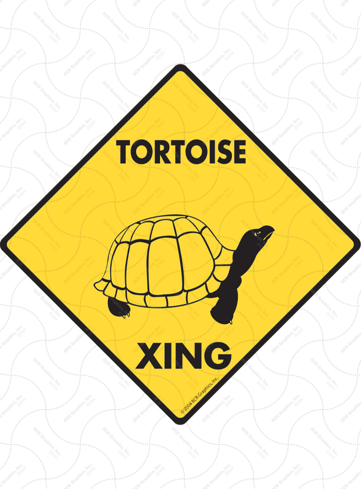Tortoise Xing (Crossing) Reptile Signs and Sticker
