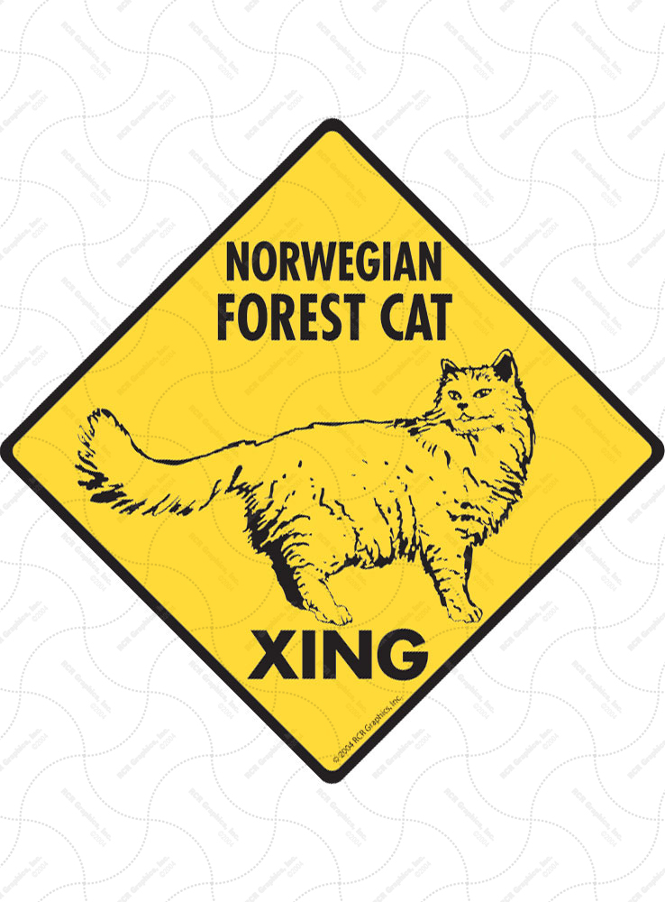 Norwegian Forest Cat Xing Signs