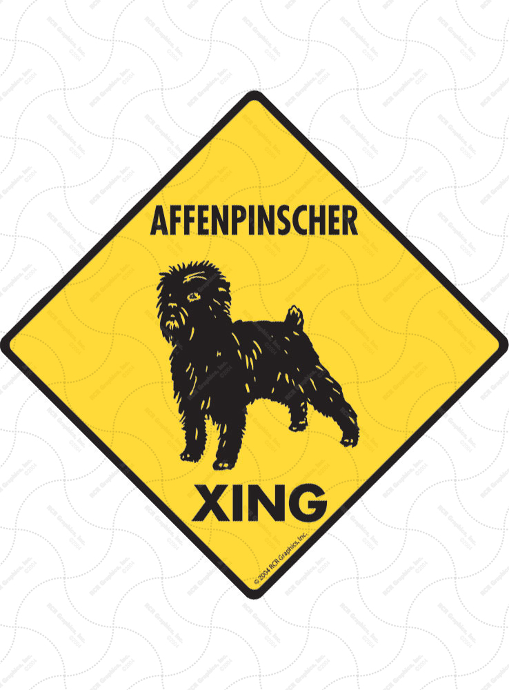 Affenpinscher Xing (Crossing) Dog Signs and Sticker