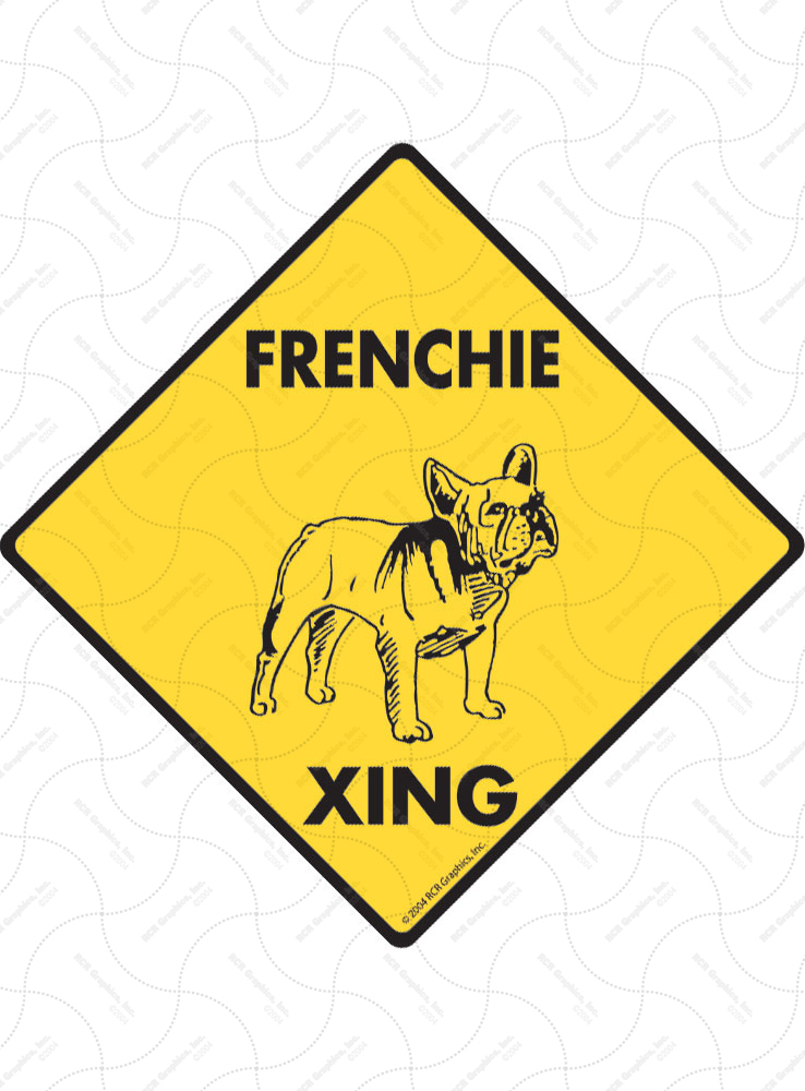 Property protected by French Bulldog dog with attitude metal aluminum sign